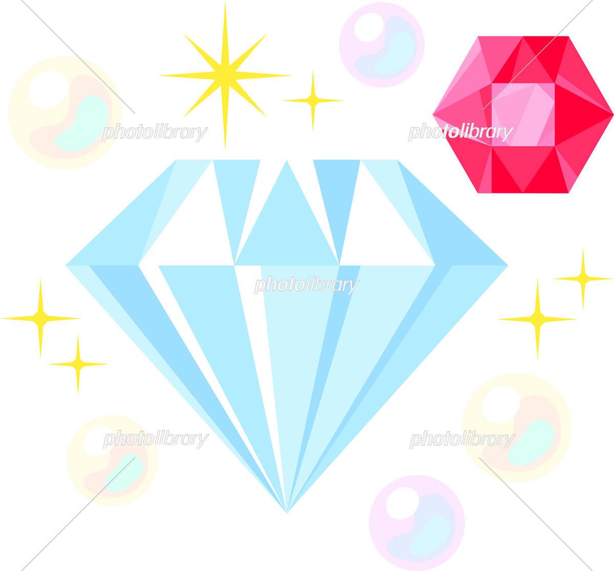 ダイヤモンド 宝石 イラスト素材 5566429 フォトライブラリー