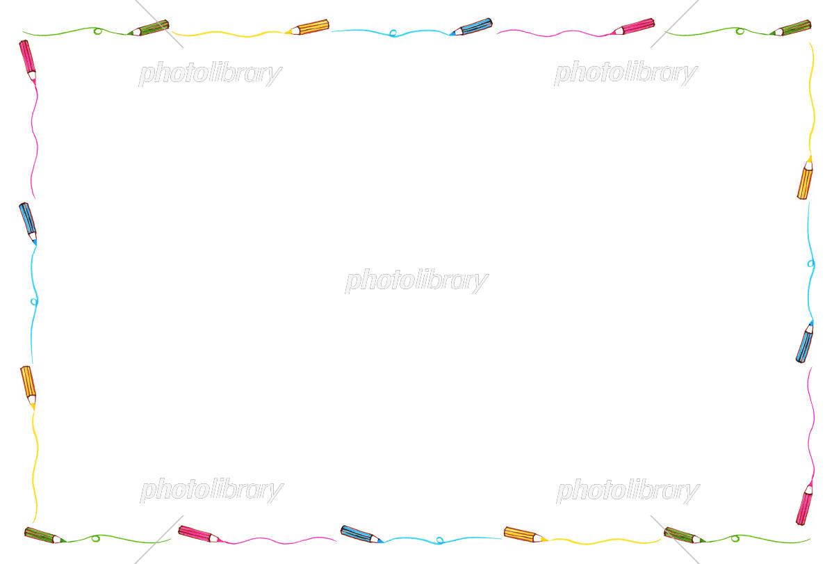 色鉛筆のフレーム 手書き風 イラスト素材 [ 5566529 ] - フォトライブ