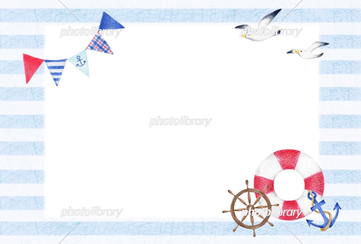 マリン 背景 手描き 横 イラスト素材 5597737 フォトライブラリー
