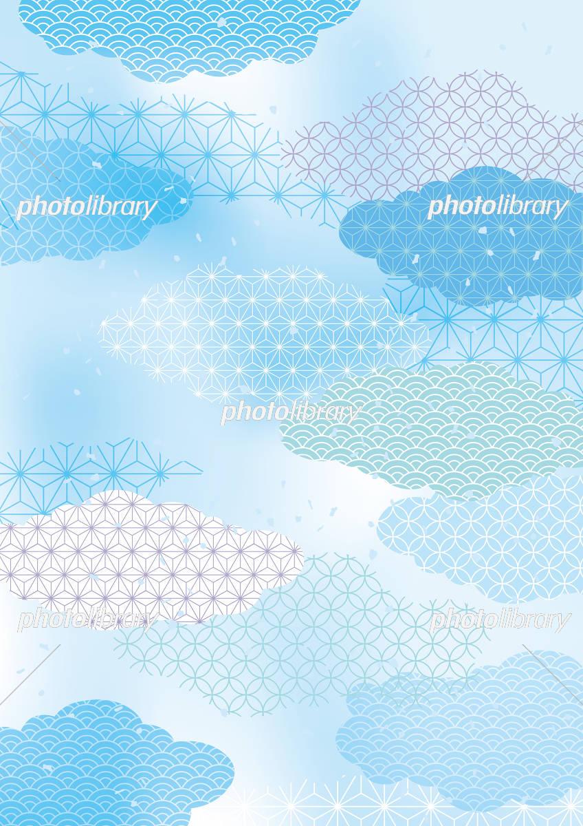 和風柄 淡い 夏 イラスト素材 フォトライブラリー Photolibrary