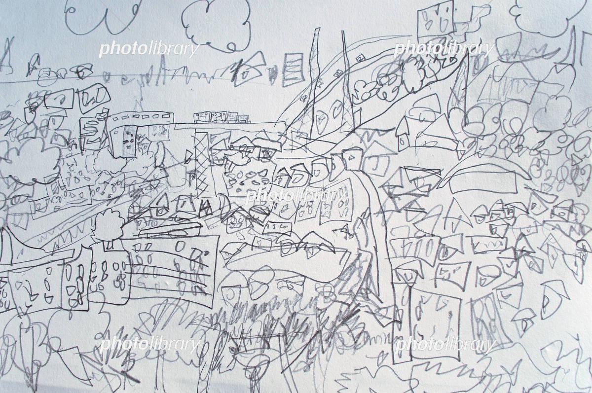 子供の描いた絵風景画 イラスト素材 5604861 フォトライブラリー
