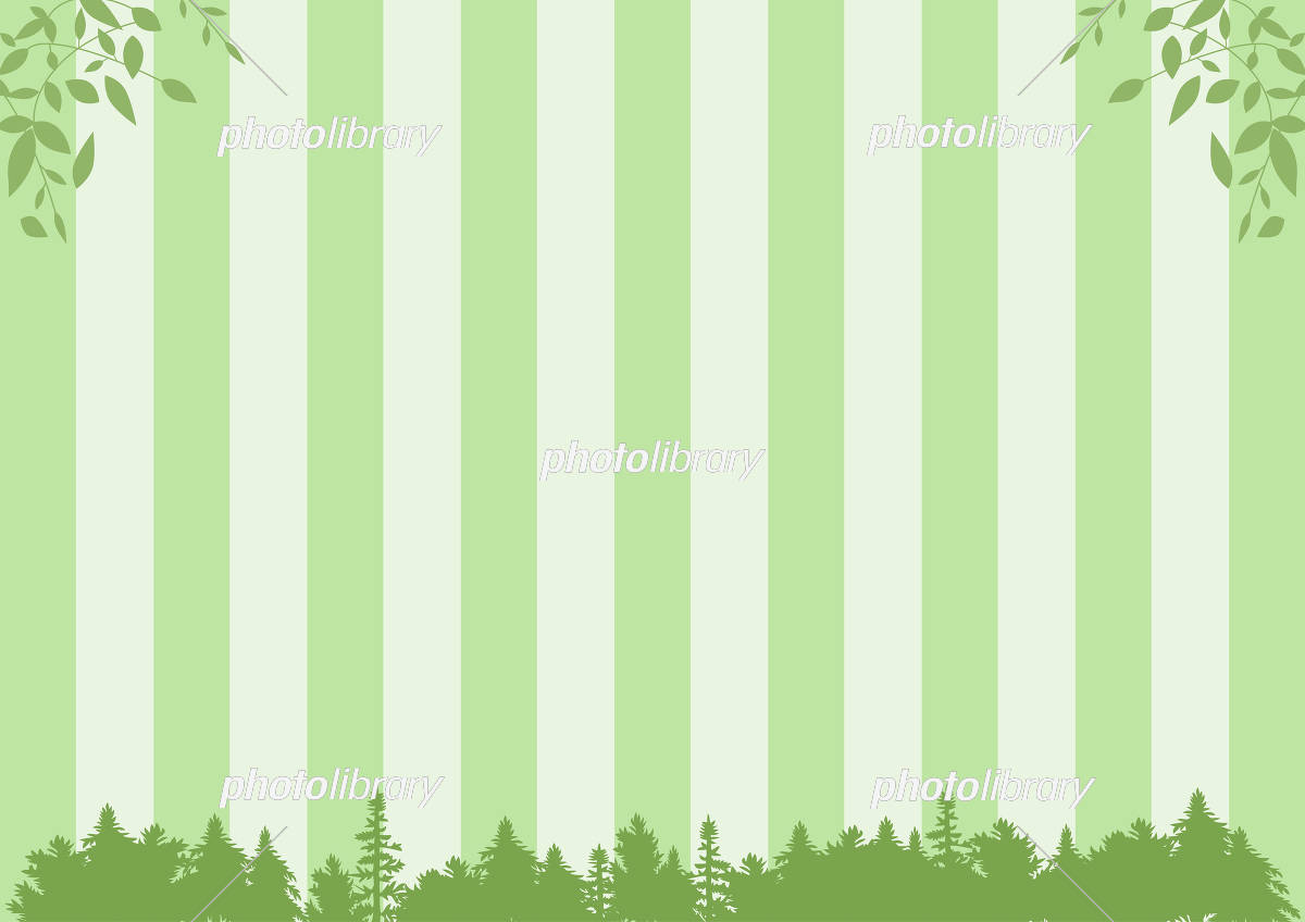 森 ストライプ背景 イラスト素材 5643474 フォトライブラリー