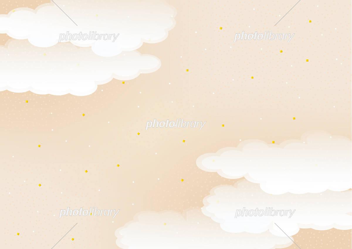 雲の背景素材 和風 イラスト素材 [ 5677851 ] - フォトライブラリー