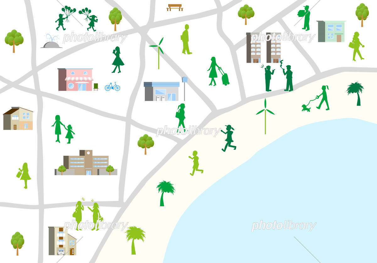 街 地図 イラスト素材 5711228 フォトライブラリー Photolibrary