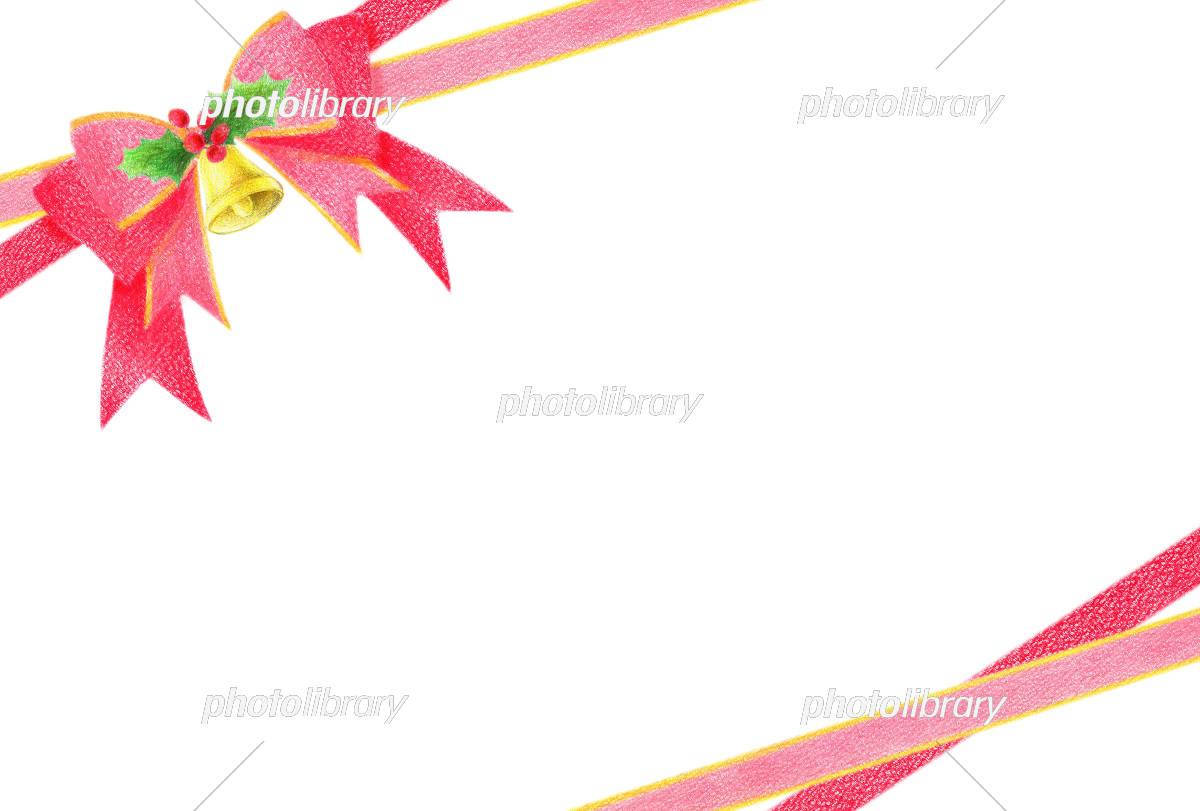 リボン クリスマス フレーム イラスト素材 5729693 フォトライブ