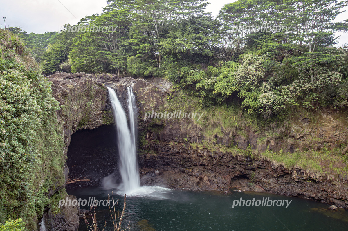 Rainbow Falls, Big Island Hawaii 写真素材