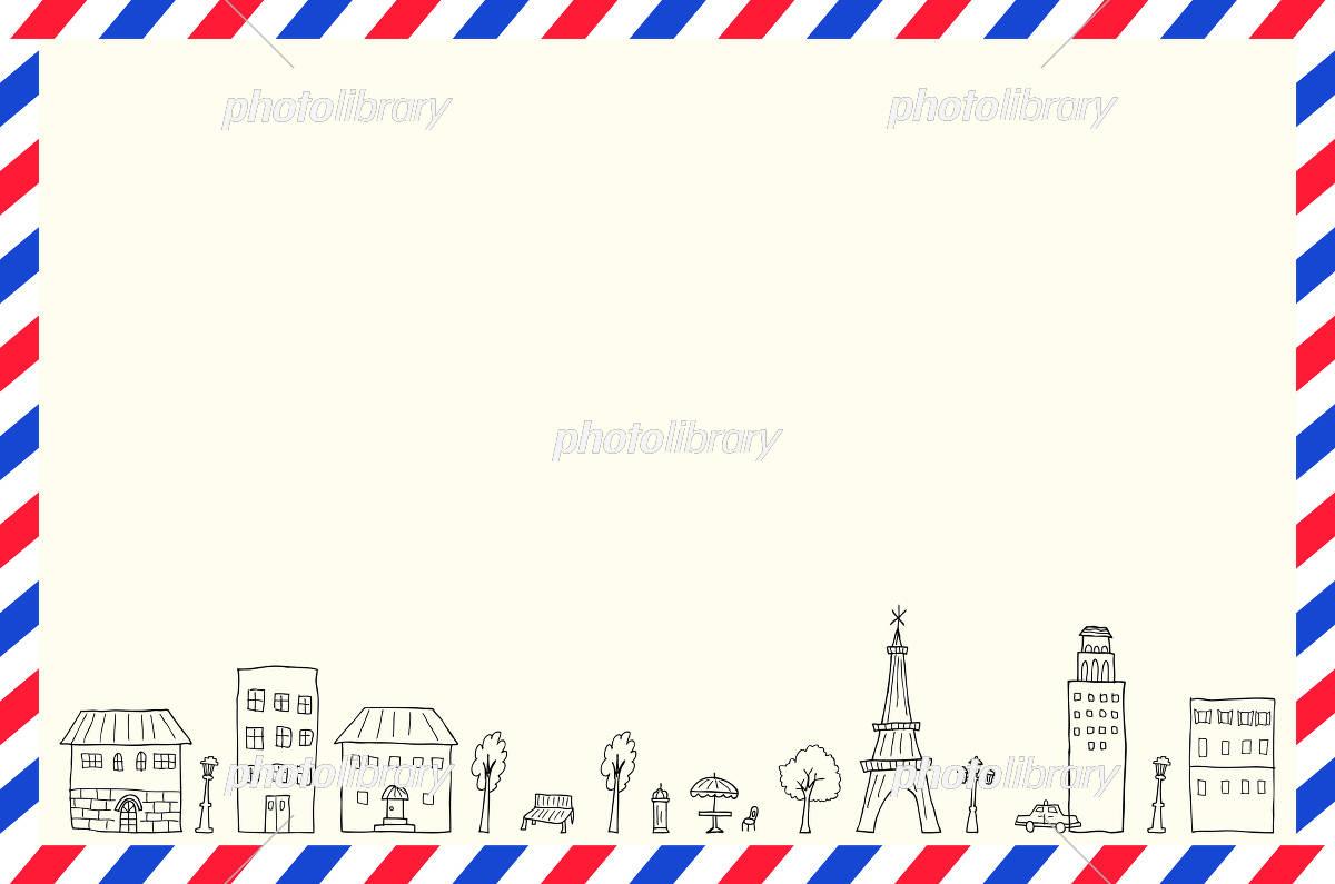 エアメール 手描き 街並み イラスト素材 5762171 フォトライブ