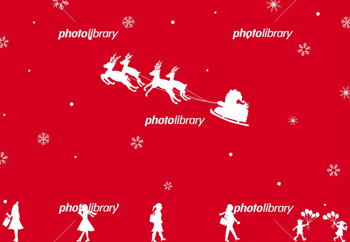 サンタクロース 雪の結晶 人物 イラスト素材 フォトライブラリー Photolibrary