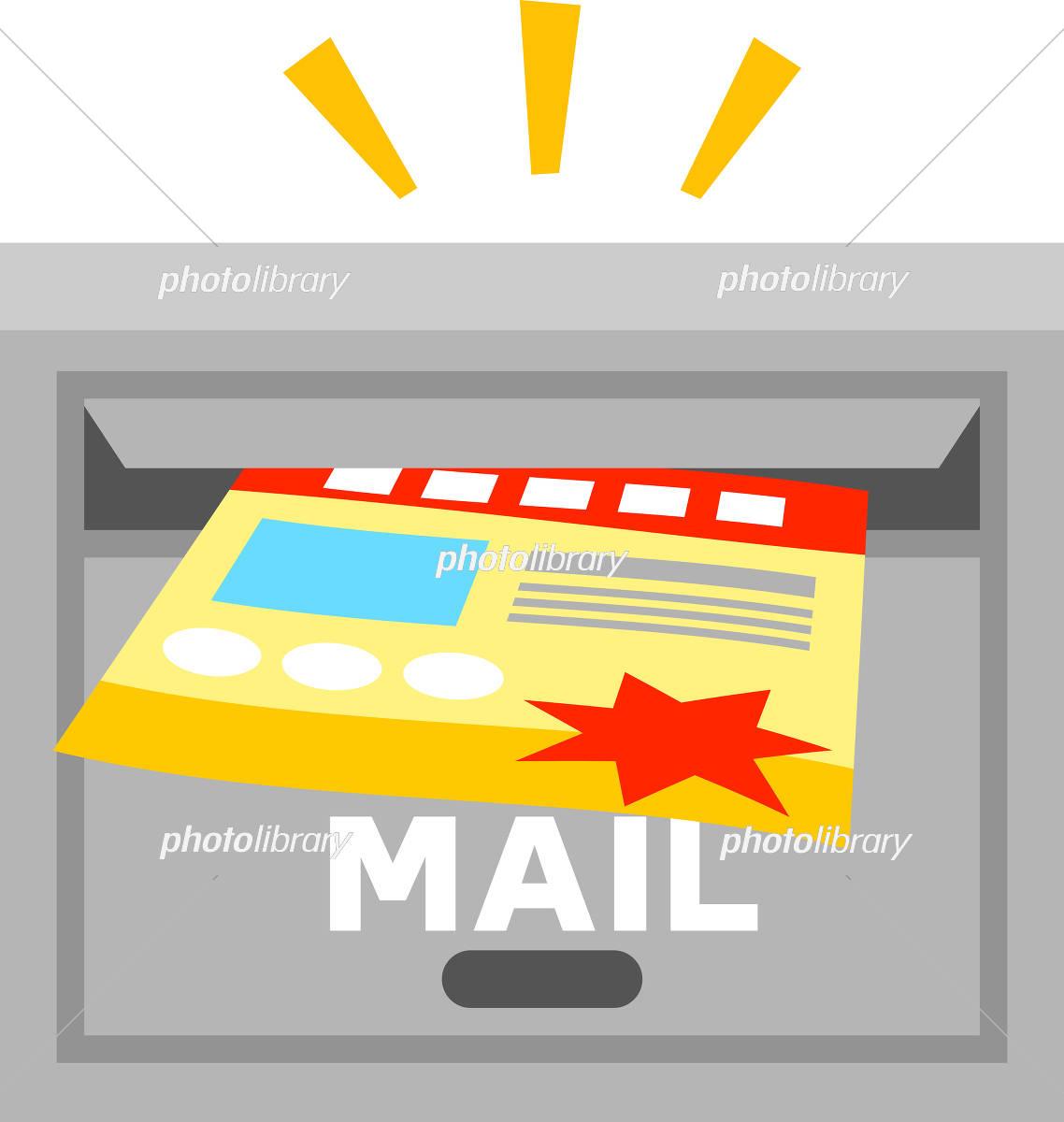 郵便受けに入れられるチラシ イラスト素材 5799801 フォトライブ