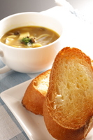 Bread and curry soup Stock photo [191657] Bread