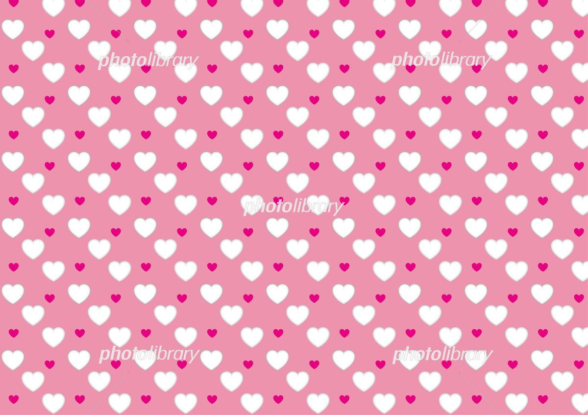 ハートパターン壁紙 ピンク2 イラスト素材 6216525 フォトライブ