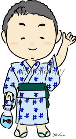 浴衣 男の子 イラスト素材 255745 フォトライブラリー Photolibrary
