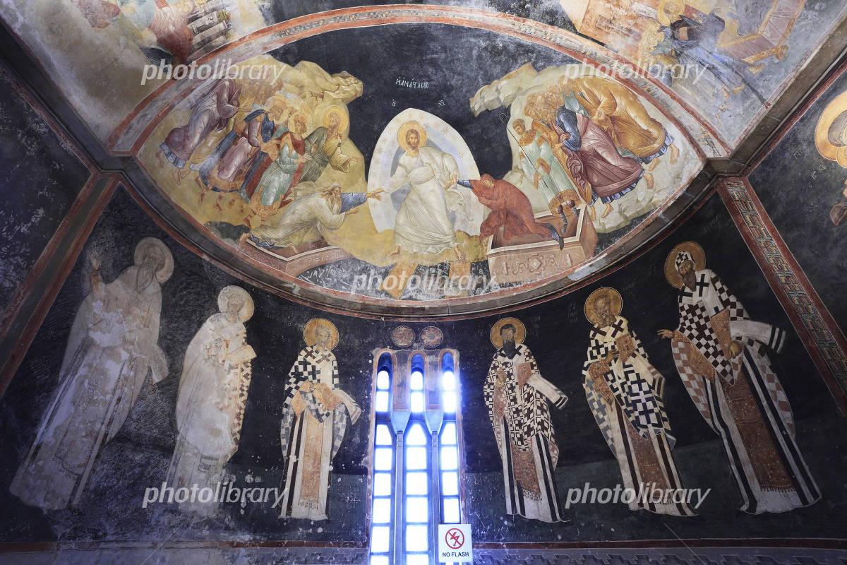 カーリエ博物館 アナスタシスと守護聖人 フレスコ... カーリエ博物館 アナスタシスと守護聖人