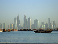 Skyscrapers of Doha Stock photo [620400] Qatar