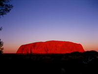Ayers Rock to stain sunset Stock photo [624699] Australia