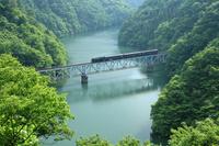 Tadami Line crossing the fresh green C11 Stock photo [625063] Steam