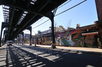 Subway guard under warehouse district Stock photo [706316] Under