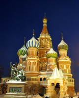 St. Basil's Cathedral of winter night Stock photo [708590] Russia