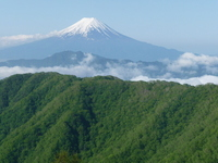 I hope Mount Fuji than Kurodake Stock photo [710907] Yamanashi