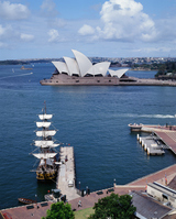 Opera House as seen from the Bay Bridge Stock photo [712221] Sydney