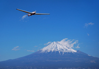 Airplane and Mount Fuji Stock photo [716184] Mt.