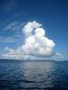 パラオの海と積乱雲