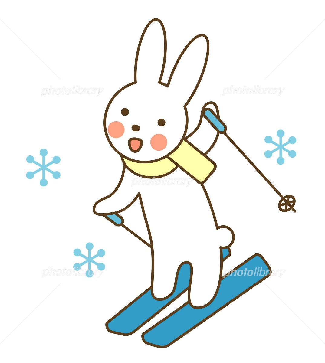 うさぎのスキー イラスト素材 789086 フォトライブラリー Photolibrary
