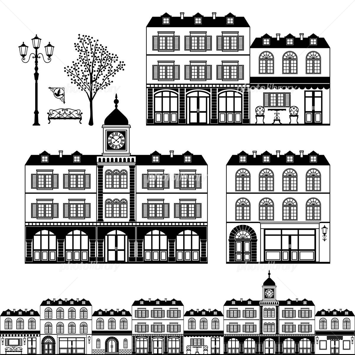 ヨーロッパの街並み イラスト素材 791387 フォトライブラリー
