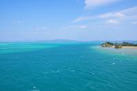 Okinawa blue sea as seen from Kouri Bridge Stock photo [798716] Kouri