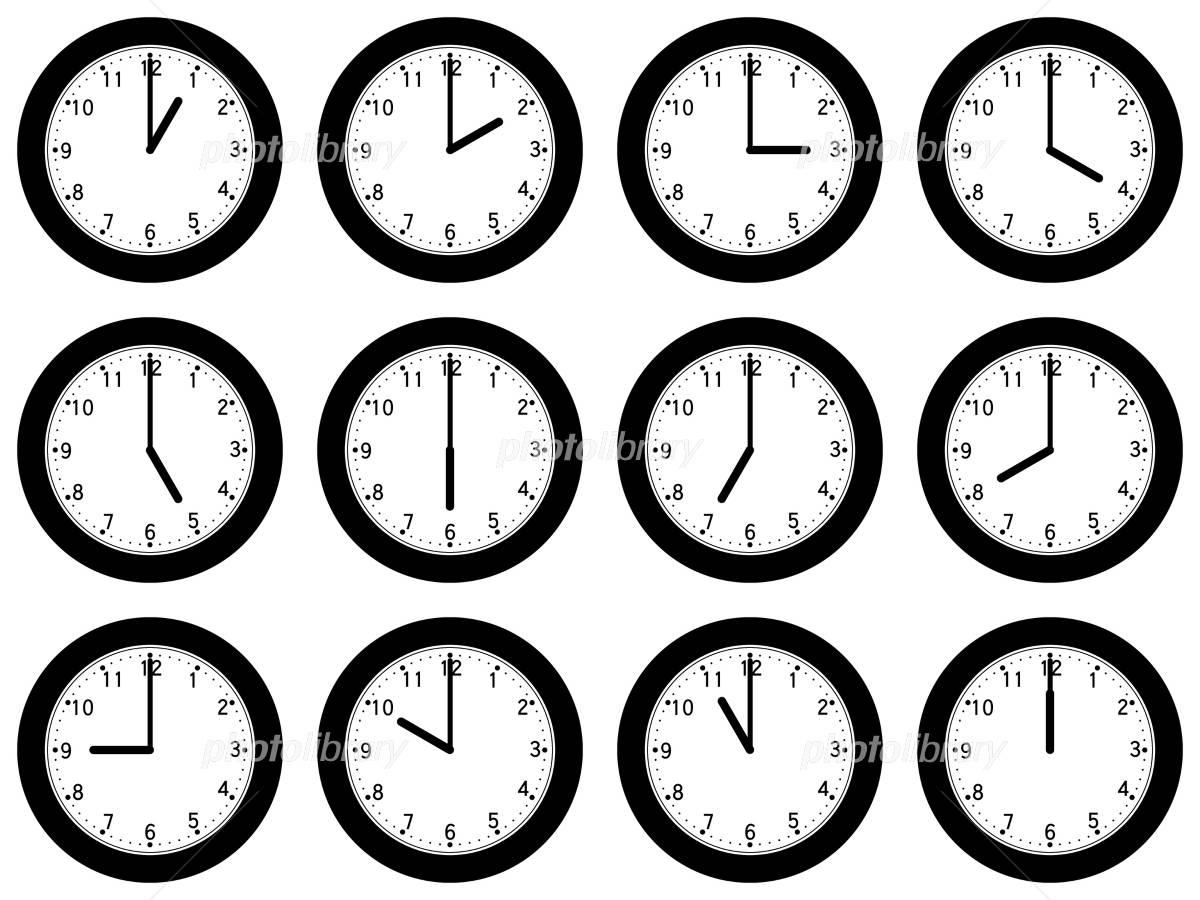 1時から12時までの時計 イラスト素材 880927 フォトライブラリー
