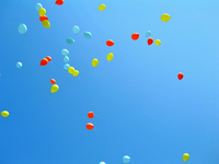 Blue sky and balloons Stock photo [871699] Blue