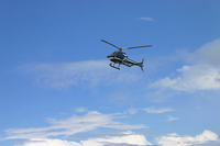 The helicopter in blue sky Stock photo [874752] Heli