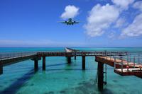 Aircraft to train flight at Shimojishima Airport Stock photo [876037] Okinawa