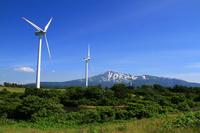 Mt.Chokai and windmill Stock photo [877358] Akita