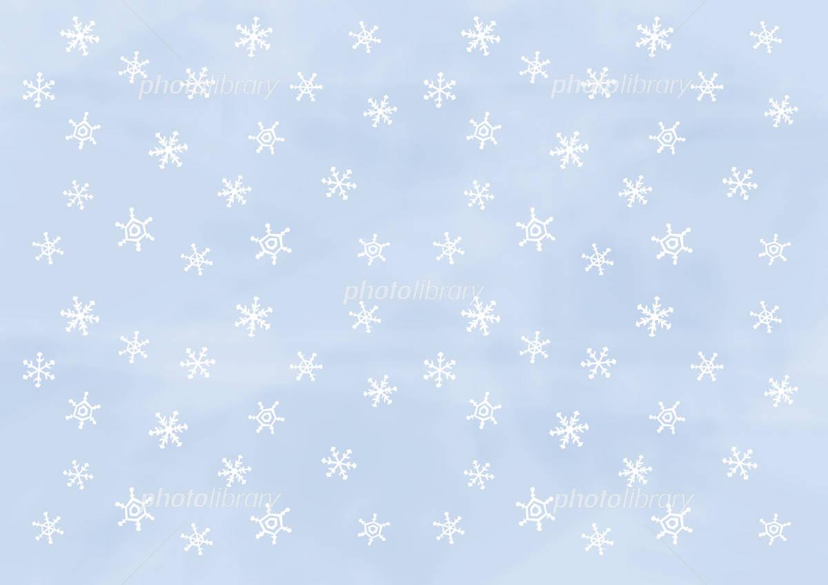 壁紙 雪の結晶 白に青 イラスト素材 953819 フォトライブラリー