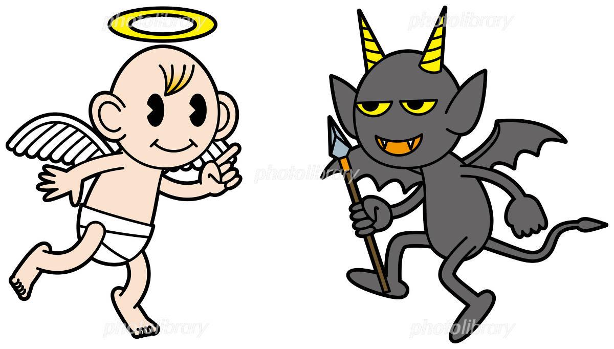 天使と悪魔 イラスト素材 1058852 フォトライブラリー Photolibrary