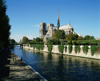 France Seine River and Notre Dame Cathedral Stock photo [1059098] France