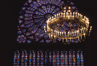 Rose windows and stained glass of Notre Dame Cathedral Stock photo [1065050] Stained-glass
