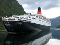 Luxury liner Queen Elizabeth II issue of Norway fjord Stock photo [1070728] Norway
