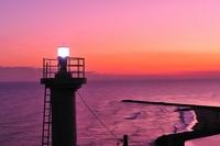 Iioka lighthouse of dusk Stock photo [1072025] Iioka