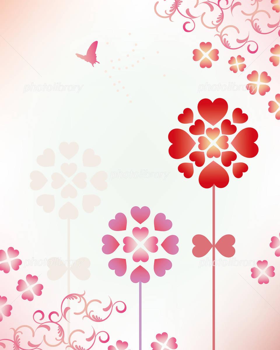 ハート 花 背景 イラスト素材 [ 1162219 ] - フォトライブラリー