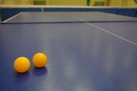 Ping-pong table and ball Stock photo [1163421] Table