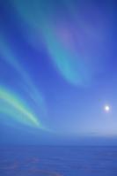 Moon and Aurora Stock photo [1165071] Aurora