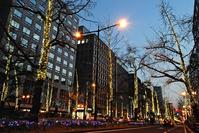 Osaka Midosuji night view Stock photo [1169843] Road