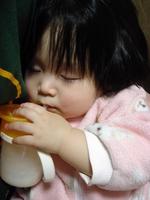 Baby fell asleep in milk Stock photo [1174765] Milk