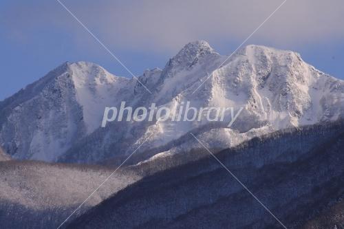 雪の烏ヶ仙 写真素材