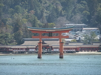Of Itsukushima shrine torii Stock photo [1266604] Three