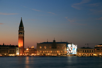 Venice Palazzo Ducale multi Aana National Library night view Stock photo [1274648] Piazza