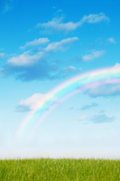 Blue sky and rainbow Stock photo [1277961] Empty
