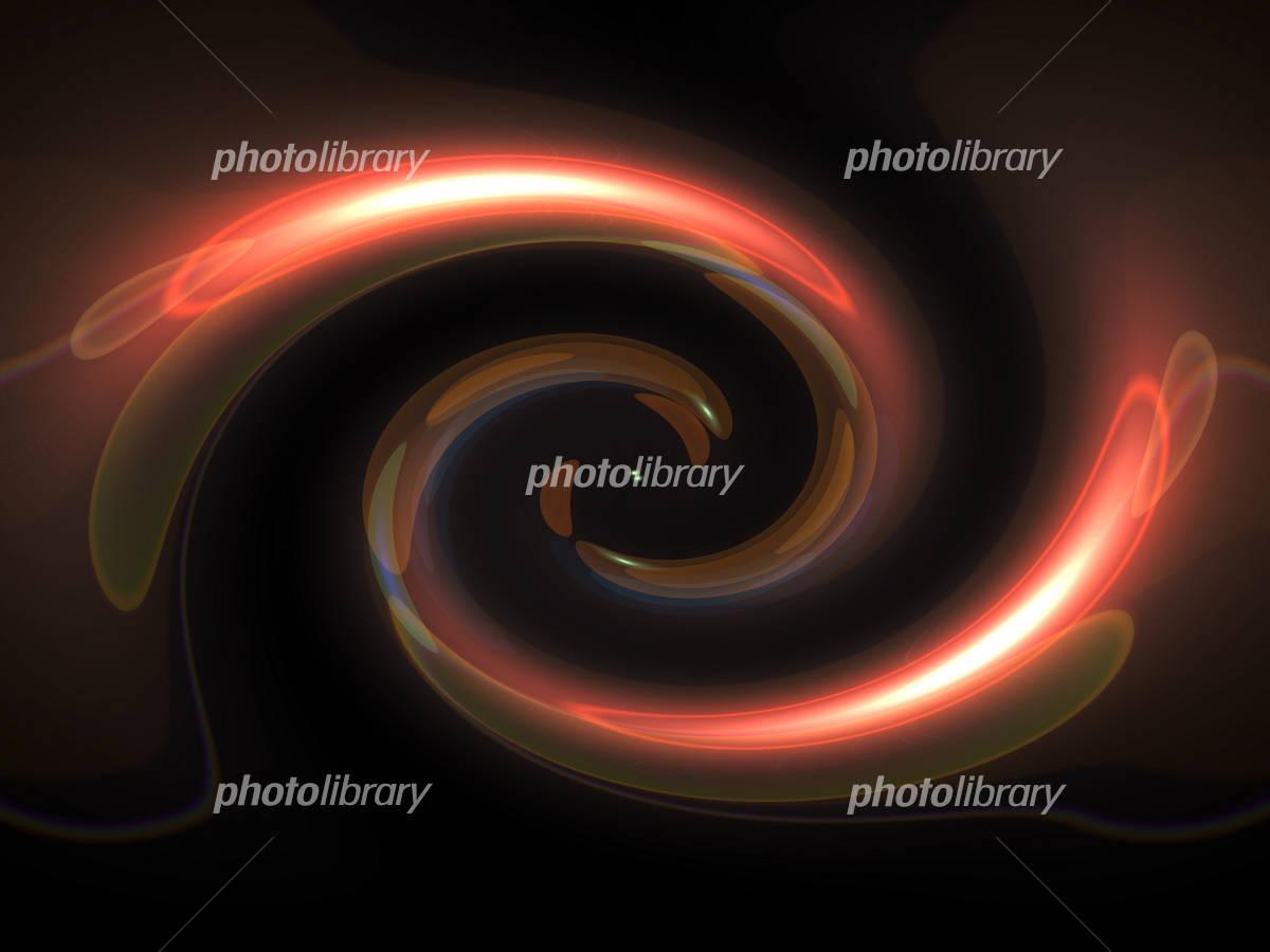 渦 ブラックホールのイラスト素材